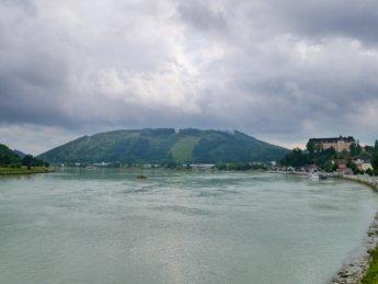 Grein Greinburg Castle ferry Danube river Austria