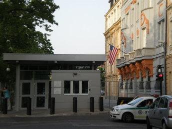 US America embassy Bratislava bollard fence wikipedia