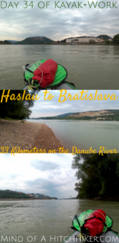 Kayak+work day 34 Haslau an der Donau to Bratislava Slovakia Danube