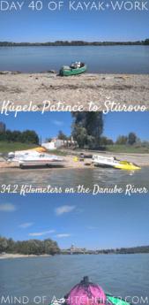 Kayak+work day 40 Kúpele Patince to Štúrovo Slovakia Hungary Danube river