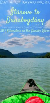 Kayak+work day 41 pinterest pin Danube river Štúrovo Slovakia Dunabogdány Hungary Esztergom