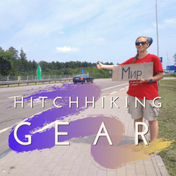 hitchhiking gear travel adventure freecamping