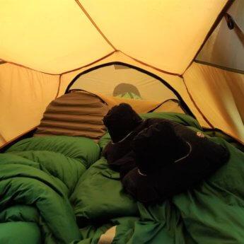 Camping gear kayak inflatable mattress sleeping bag inlet pillow