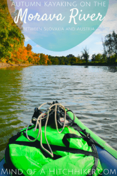 As a day trip from Bratislava, we took our inflatable canoe named Zucchini and took a Bolt taxi to Záhorská Ves to paddle in the Morava River on the border of Slovakia and Austria. #Morava #March #river #Bratislava #Slovakia #Austria #Österreich #kayak #canoe #inflatablekayak #inflatablecanoe #paddling #Danube #Donau #Vienna #fishing #Devín #Castle #twincity #autumn