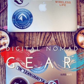 Digital nomad gear laptops travel work online business
