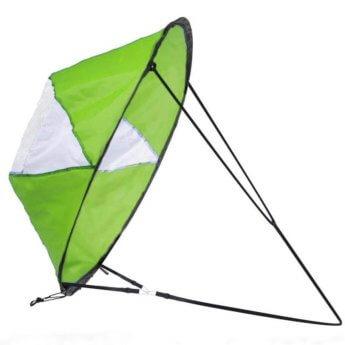 green kayak sail