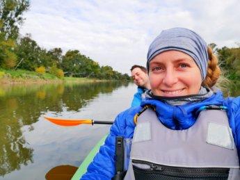 10 Jonas Iris kayak Zucchini paddling Morava River Danube Slovakia Austria border iron curtain