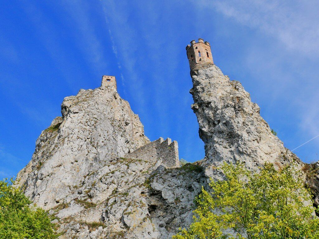 34 Devin castle ruins tower rock keep morava danube confluence