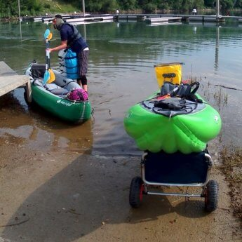kayak trolley in action linz