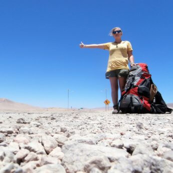 Atacama Desert Chile backpack square