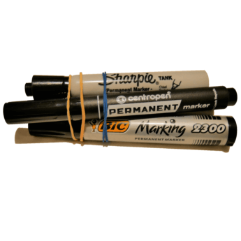 black markers for hitchhiking internationally sharpie pen bic cardboard sign travel adventure