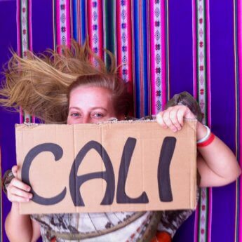 cali colombia hitchhiking sign hobo font