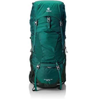 deuter aircontact lite 65+10 liters hitchhiking gear backpack