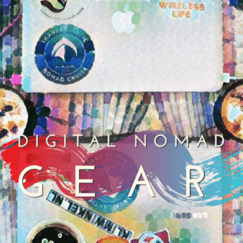 digital nomad gear watercolor