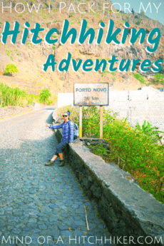 hitchhiking gear pin pinterest world travel autostop thumb road cabo verde africa islands adventure