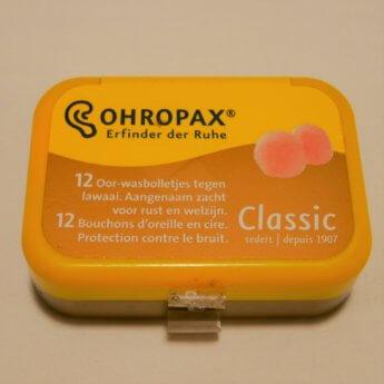 ohropax earplugs wax travel peace quiet