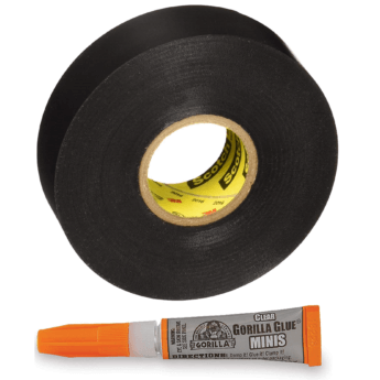 superglue electrical tape collage