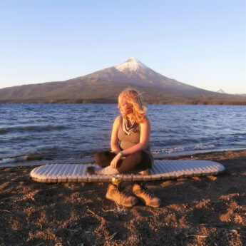 thermarest mattress chile south america hitchhiking gear free camping volcano south andes