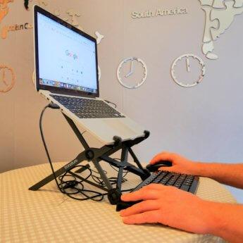 tronature laptop stand lightweight travel friendly digital nomad gear