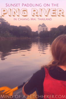 Once or twice a week, there's organized paddling you can join in Chiang Mai on the Ping River. #ChiangMai #PingRiver #Thailand #WatFaHam #Temple #Buddhism #southeastasia #Asia #travel #journey #Thai #loikrathong #yipeng #chaophraya #Bangkok #digitalnomad #river #kayak #canoe #kayakclub