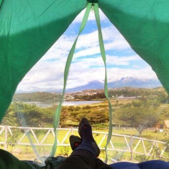 hiking socks hitchhiking tent ecuador south america - square