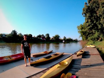 Kayaking Ping River Chiang Mai first round 1