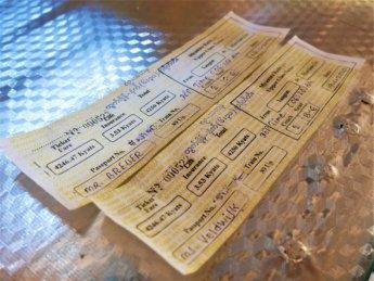 0 Yangon to Mawlamyine train ticket paper