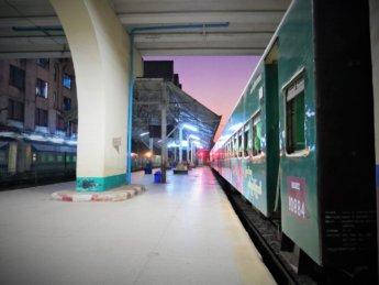 Myanmar Train station Yangon to Mawlamyine 1