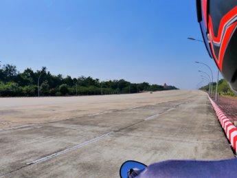 20-lane highway naypyitaw myanmar road freeway concrete twenty wide hluttaw motorcycle day trip