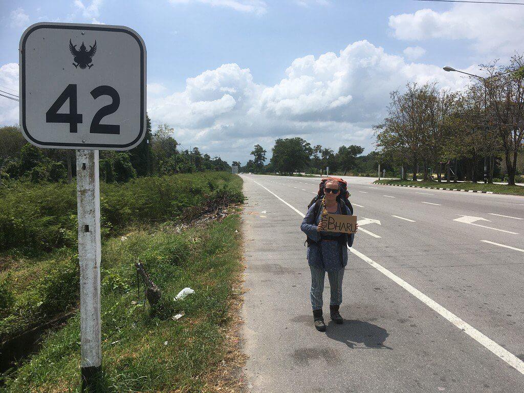 Narathiwat hitchhiking to Kota Bharu Thailand Malaysia border