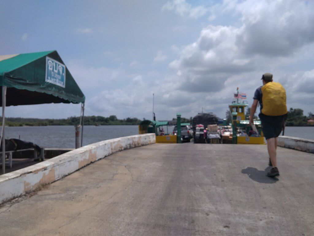 Ferry Tak Bai to cross the river Thailand Malaysia border