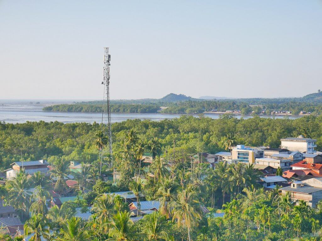 Cell tower in Bokpyin, between Myeik and Kawthaung