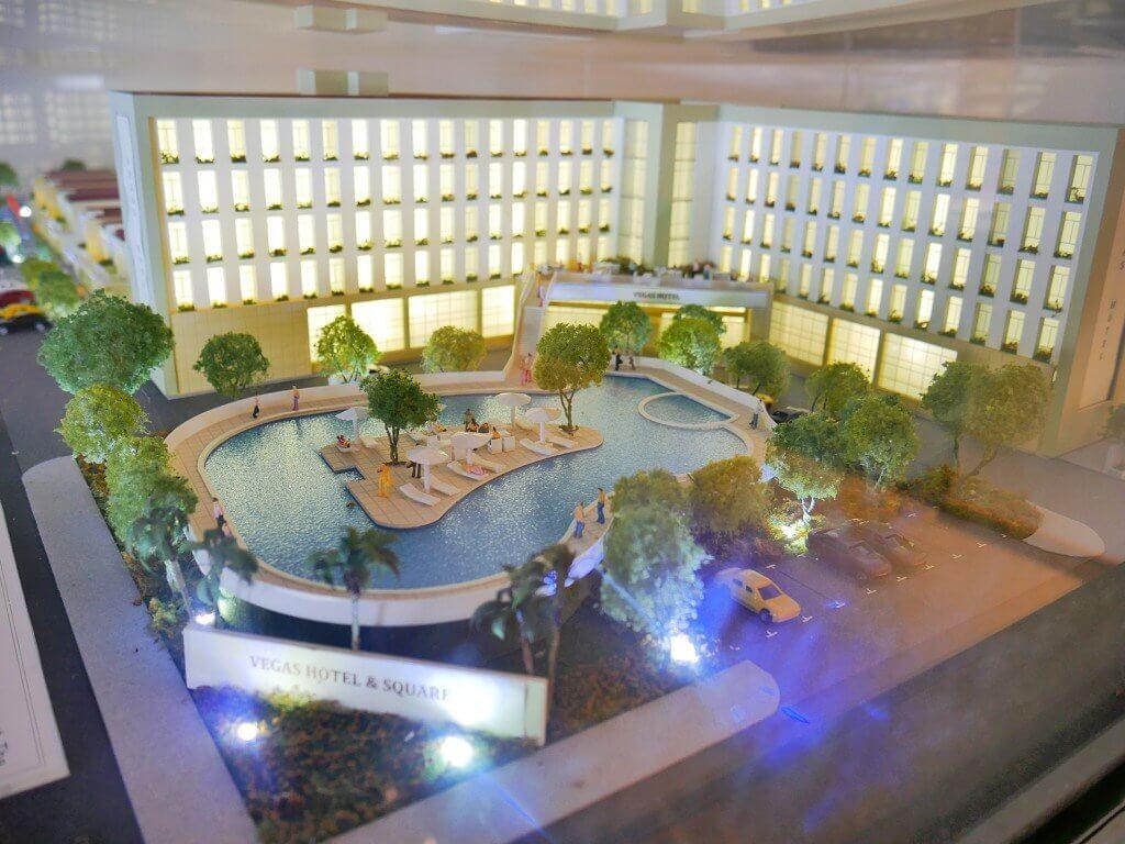 Vegas Hotel Naypyitaw scale model