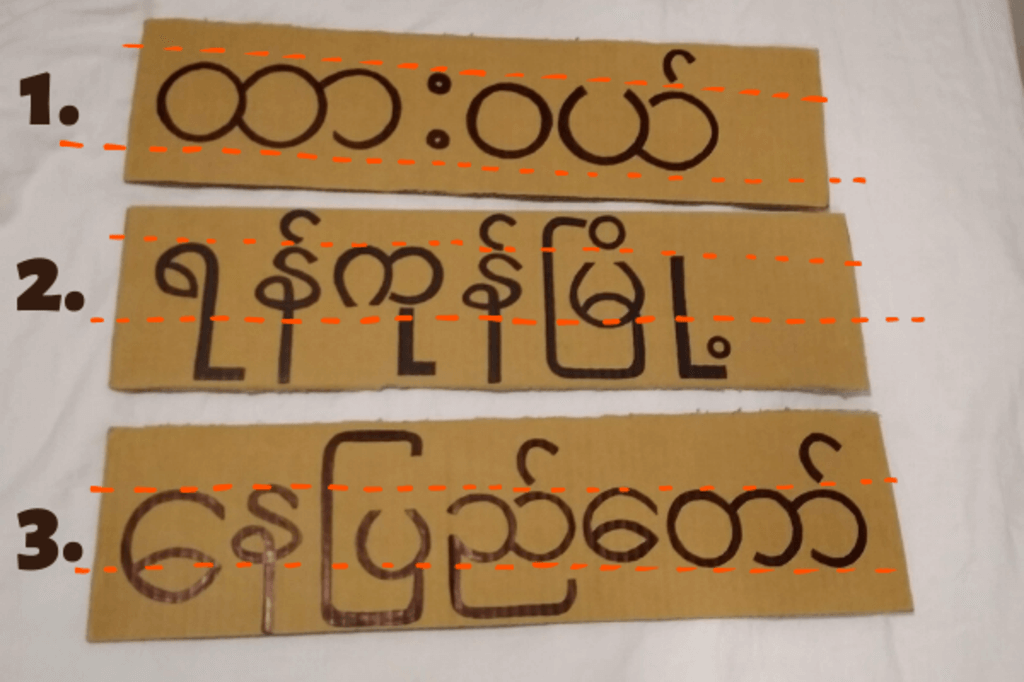 myanma hitchhiking signs numbered hitchhiking in myanmar