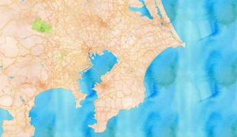 Chiba prefecture hospitality in lockdown Japan Tokyo maps.stamen.com watercolor map