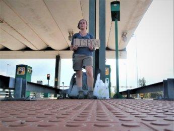 Hitchhiking to Lisbon Lisboa Portugal in 2015 about Iris Veldwijk