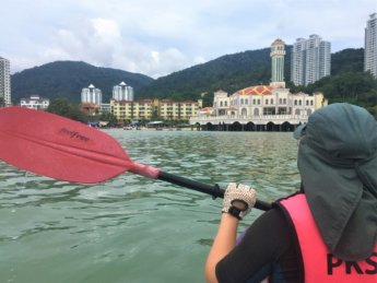 9 kayaking floating mosque Penang George Town Tanjung Bungah sea