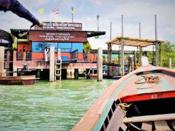 Kawthaung Myanmar to Ranong Thailand border crossing Kraburi Pak Chan river 13