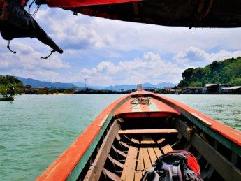 Kawthaung Myanmar to Ranong Thailand border crossing Kraburi Pak Chan river 14
