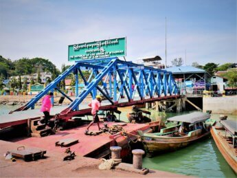 Kawthaung Myanmar to Ranong Thailand border crossing Kraburi Pak Chan river 2