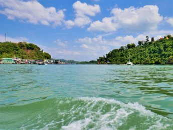 Kawthaung Myanmar to Ranong Thailand border crossing Kraburi Pak Chan river 5