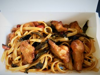Janxden Greenlife vegetarian salted egg fettucine mushrooms