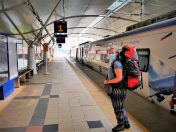 RMCO travel Taiping train station backpacking