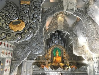interior Wat Sri Suphan silver temple Chiang Mai Thailand 2019