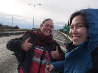2 2015 - New Zealand hitchhiker lady met in Sofia, Bulgaria Yinj Tan