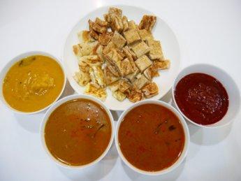 Al Mashur Ria roti vegetarian curry bawang tosai
