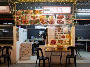 Indian meal sky 88 food court vegetarian curry gravy chapati Johor Bahru Malaysia