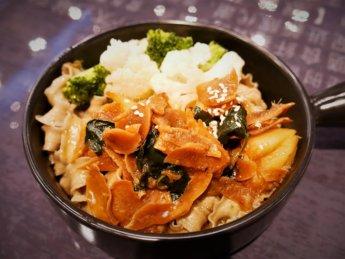 Life Ricette oat noodle three cup sauce monkey head mushrooms ginger Johor Bahru vegetarian restaurant food