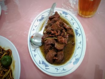 Merry Land Vegetarian restaurant johor bahru malaysia mock mutton shredded ginger