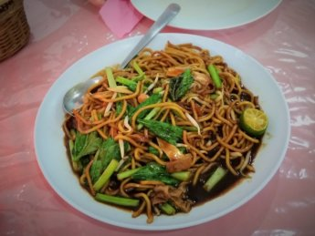 Merry Land Vegetarian restaurant johor bahru malaysia noodle dish